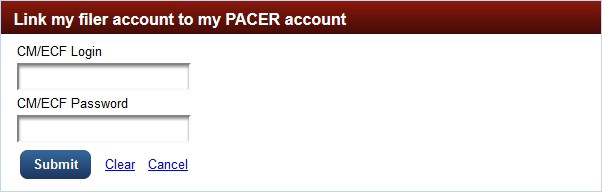 Link PACER Account Credentials