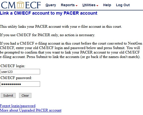 Link PACER Account